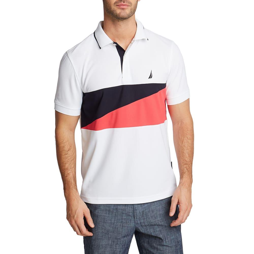 Nautica Men's Colorblock Chest Stripe Polo - White, XXL