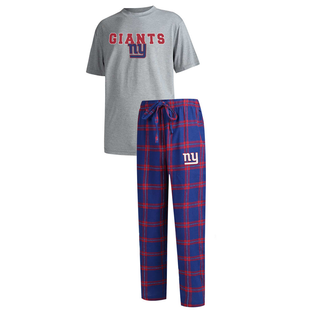 NEW YORK GIANTS Men's Troupe Shirt and Pants Sleep Set L