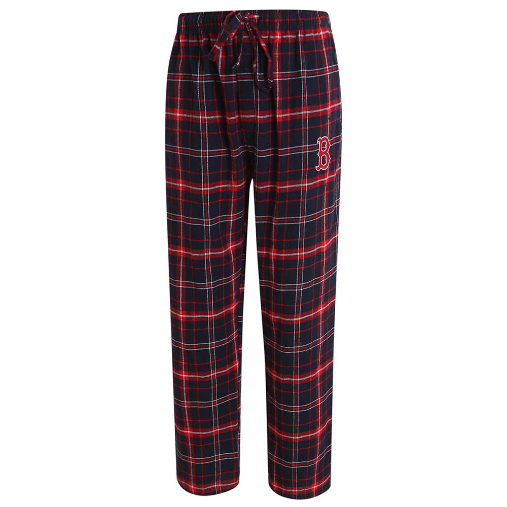 BOSTON RED SOX Men's Ultimate Plaid Flannel Pajama Pants L