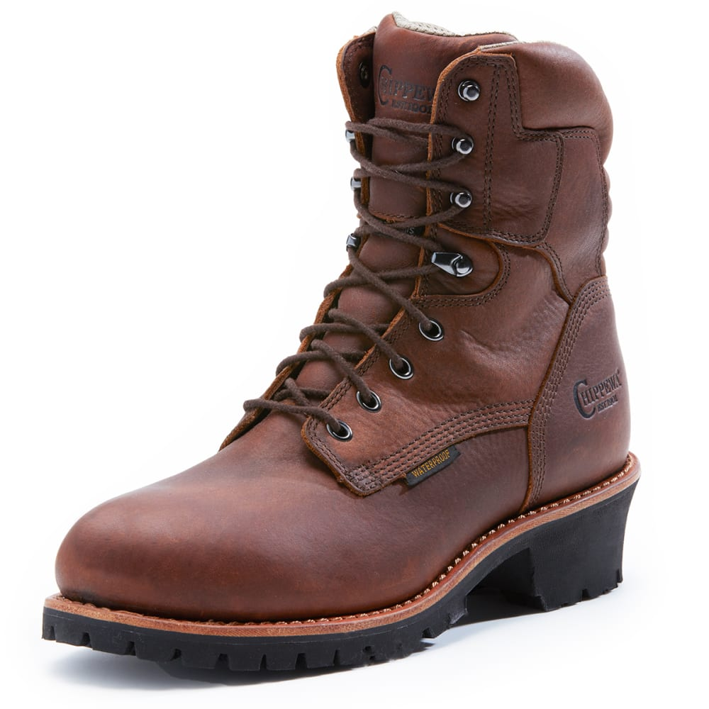 CHIPPEWA Men's 75323 Logger St. Insulated Waterproof 400 GRM Boots, Wide 8.5