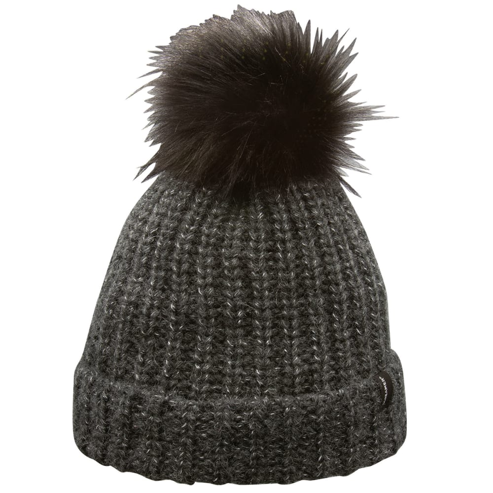 SCREAMER Woman's Wool Blend Cuffed Knit Hat with Pom ONE SIZE