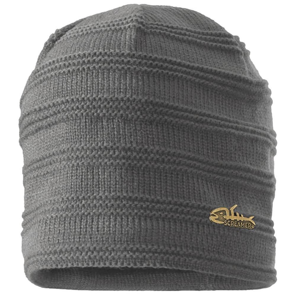 SCREAMER Men's Fleece Lined Ripple Knit Hat ONE SIZE