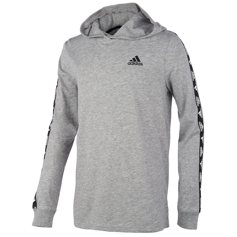 ADIDAS Boys' Badge of Sport Hooded Long-Sleeve Tee S