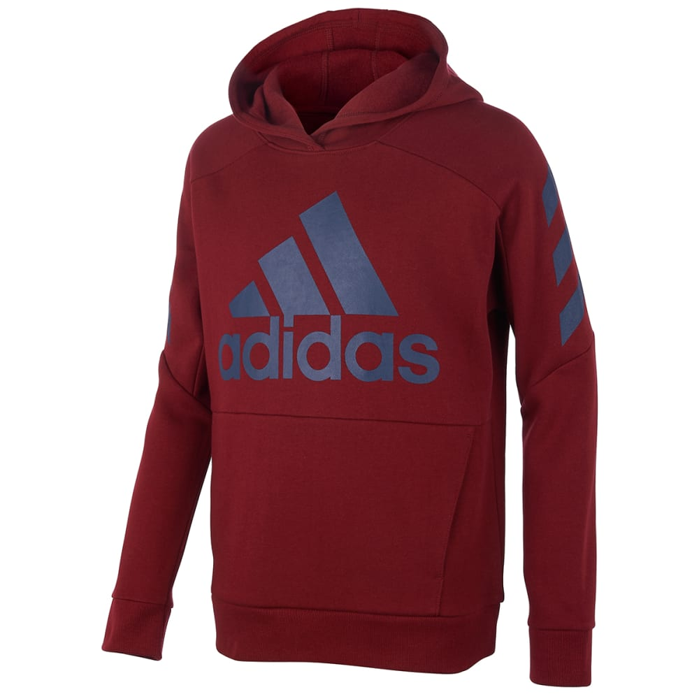 ADIDAS Boys' 8-20 Block Fleece Pullover Hoodie S