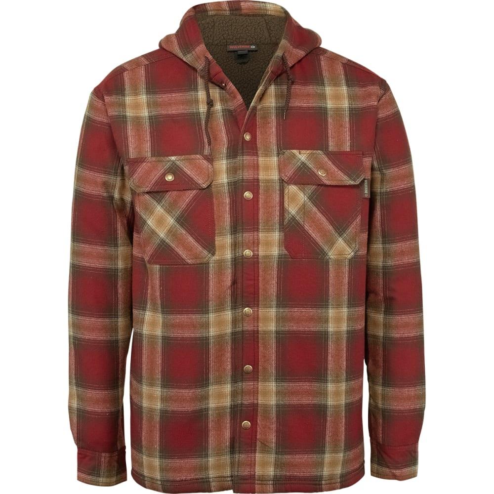 WOLVERINE Men's Byron Hooded Shirt Jacket XL