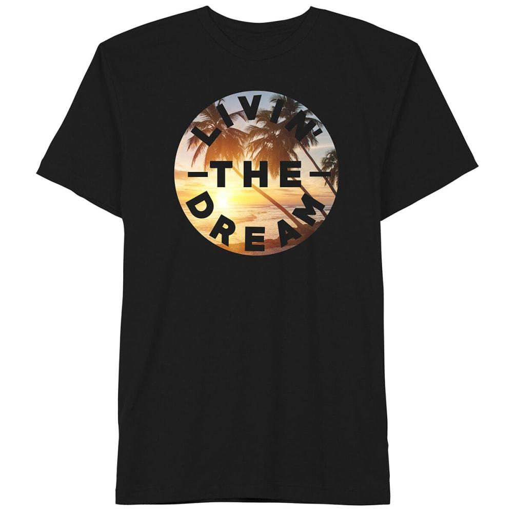 Well Worn Guys' Livin' The Dream Short-Sleeve Graphic Tee - Black, S