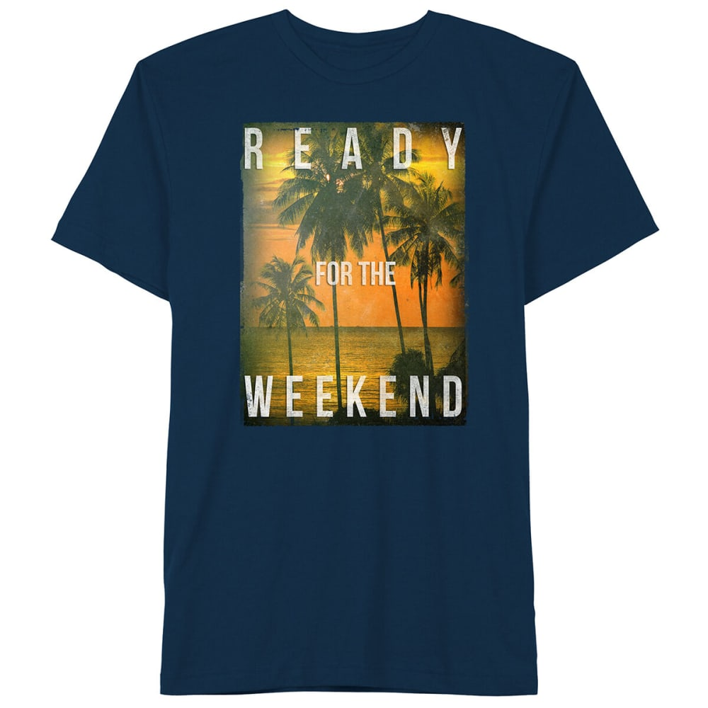Well Worn Guys' Ready For The Weekend Short-Sleeve Graphic Tee - Blue, S