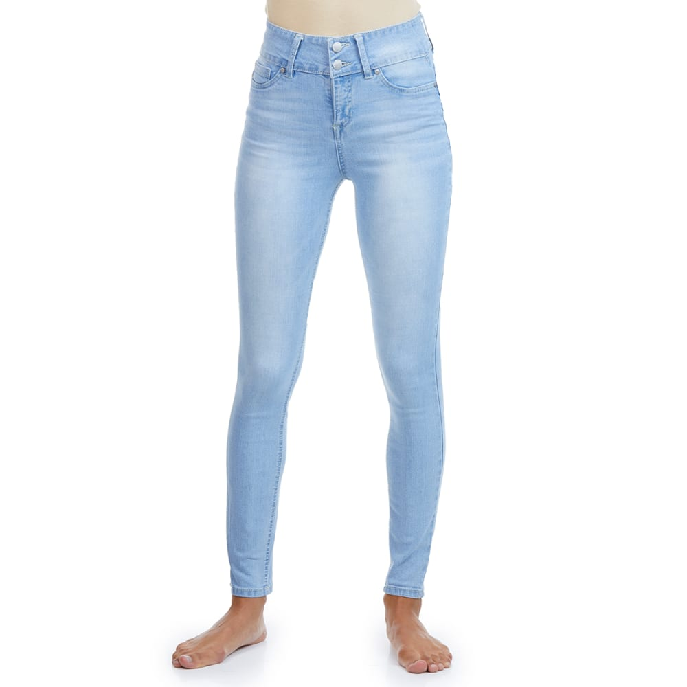 BLUE SPICE Juniors' High Rise Tummy Sculpting and Butt Lifting Skinny Jeans 0
