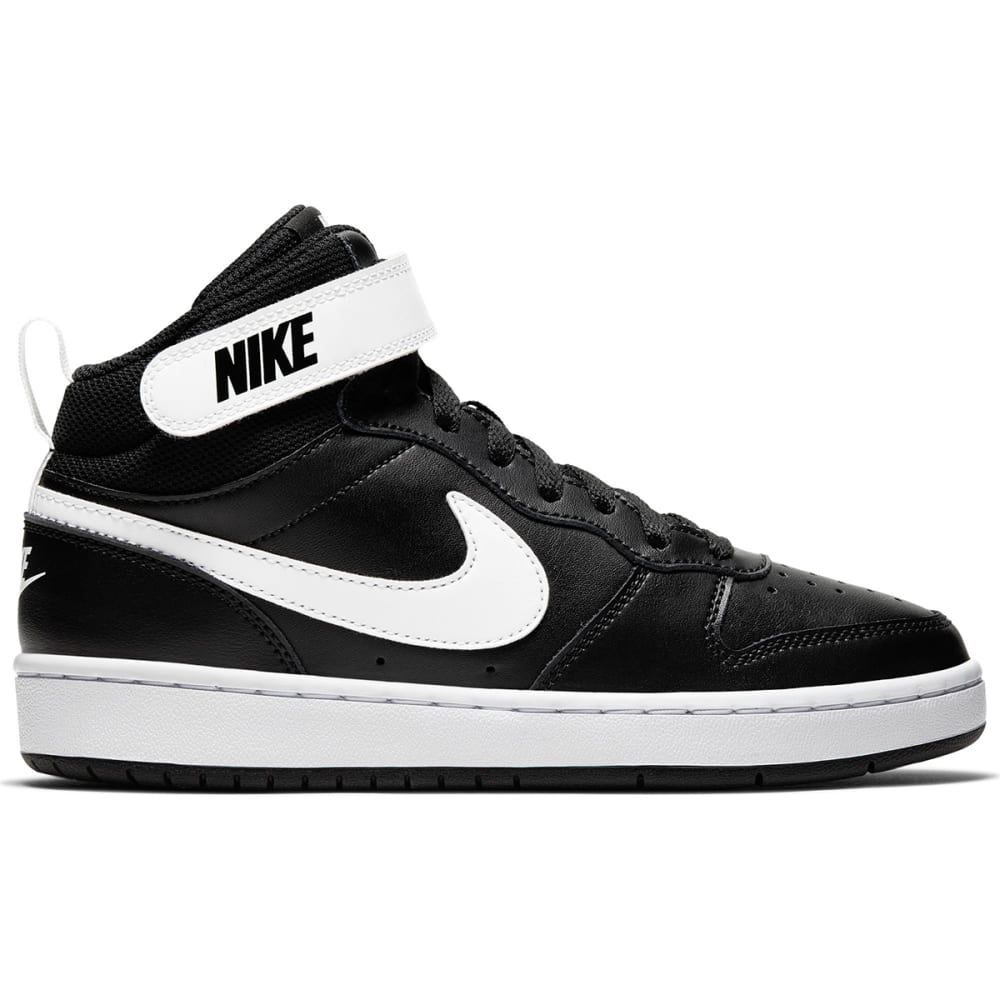 NIKE Boys' Court Borough Mid High Top Basketball Sneakers 3.5