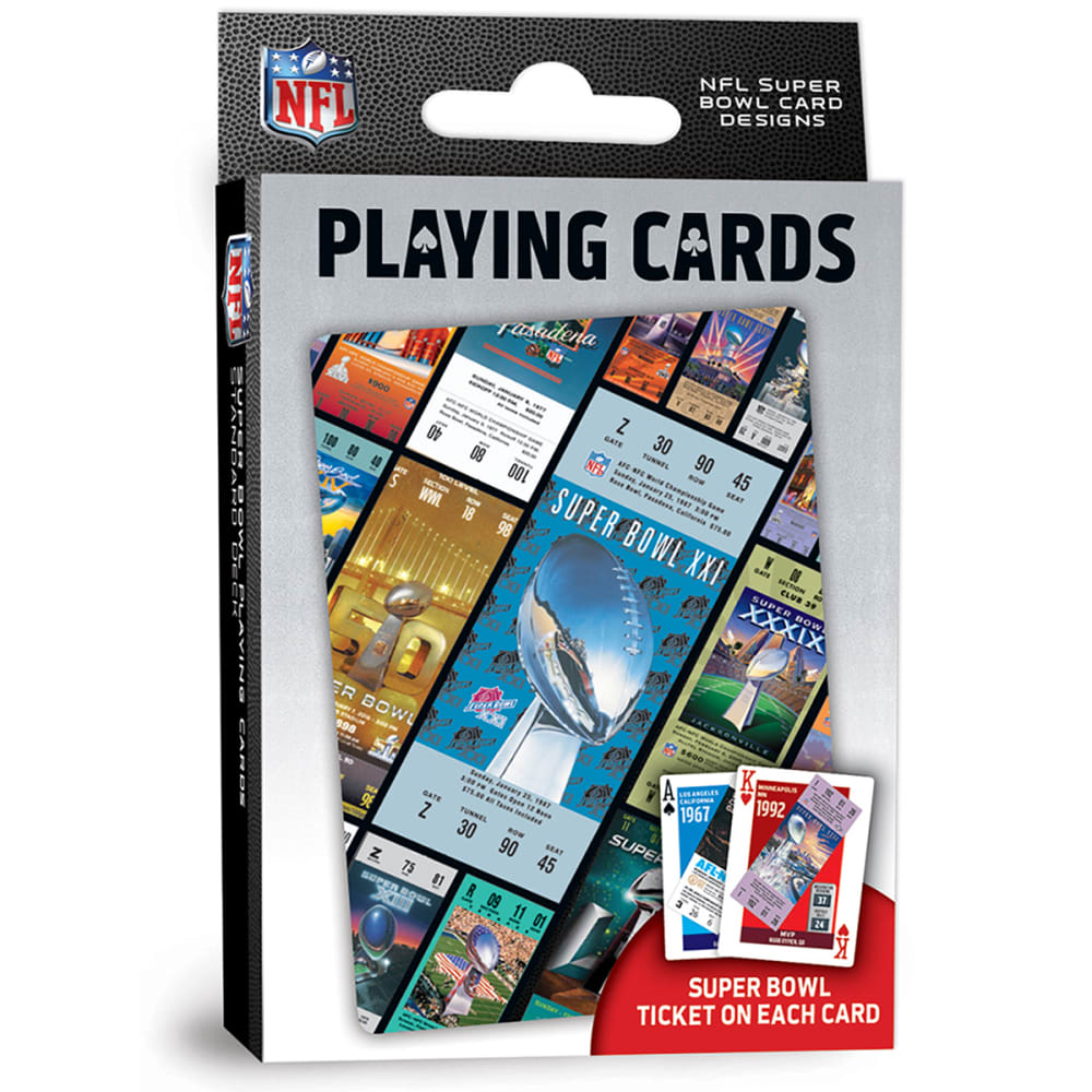 MASTERPIECES NFL Superbowl Ticket Playing Cards NO SIZE