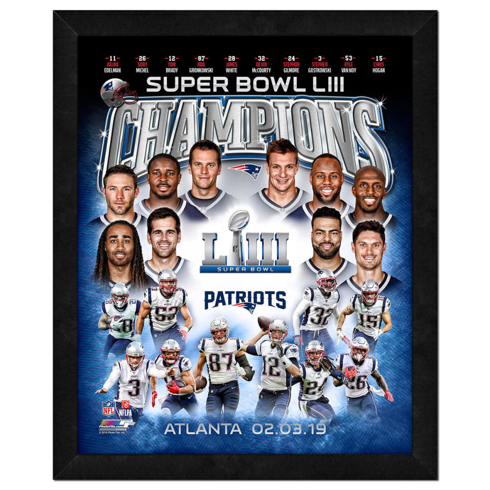 NEW ENGLAND PATRIOTS Super Bowl LIII Champions Frame NO SIZE