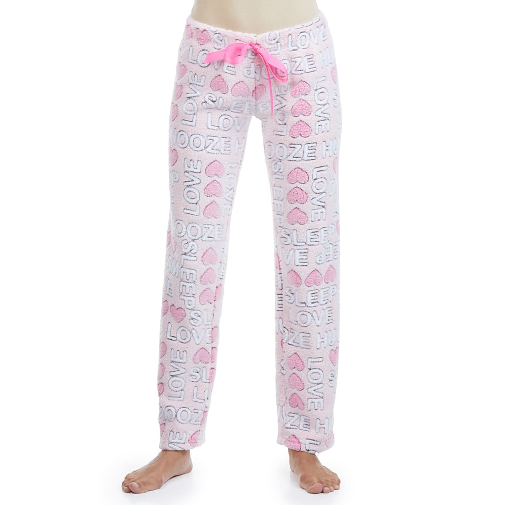 SLEEP & CO Women's Jacquard Plush Sleep Pants S