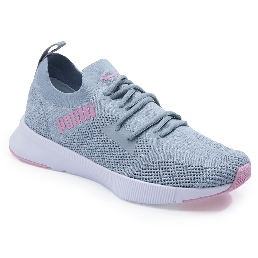Puma Women's Flyer Runner Engineer Knit Athletic Shoes - Black, 6.5