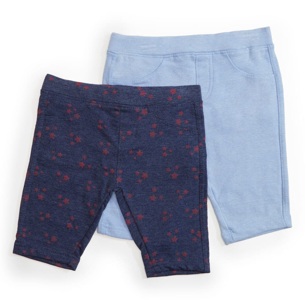 FREESTYLE Girls' Star Print Knit Shorts, 2-Pack 6