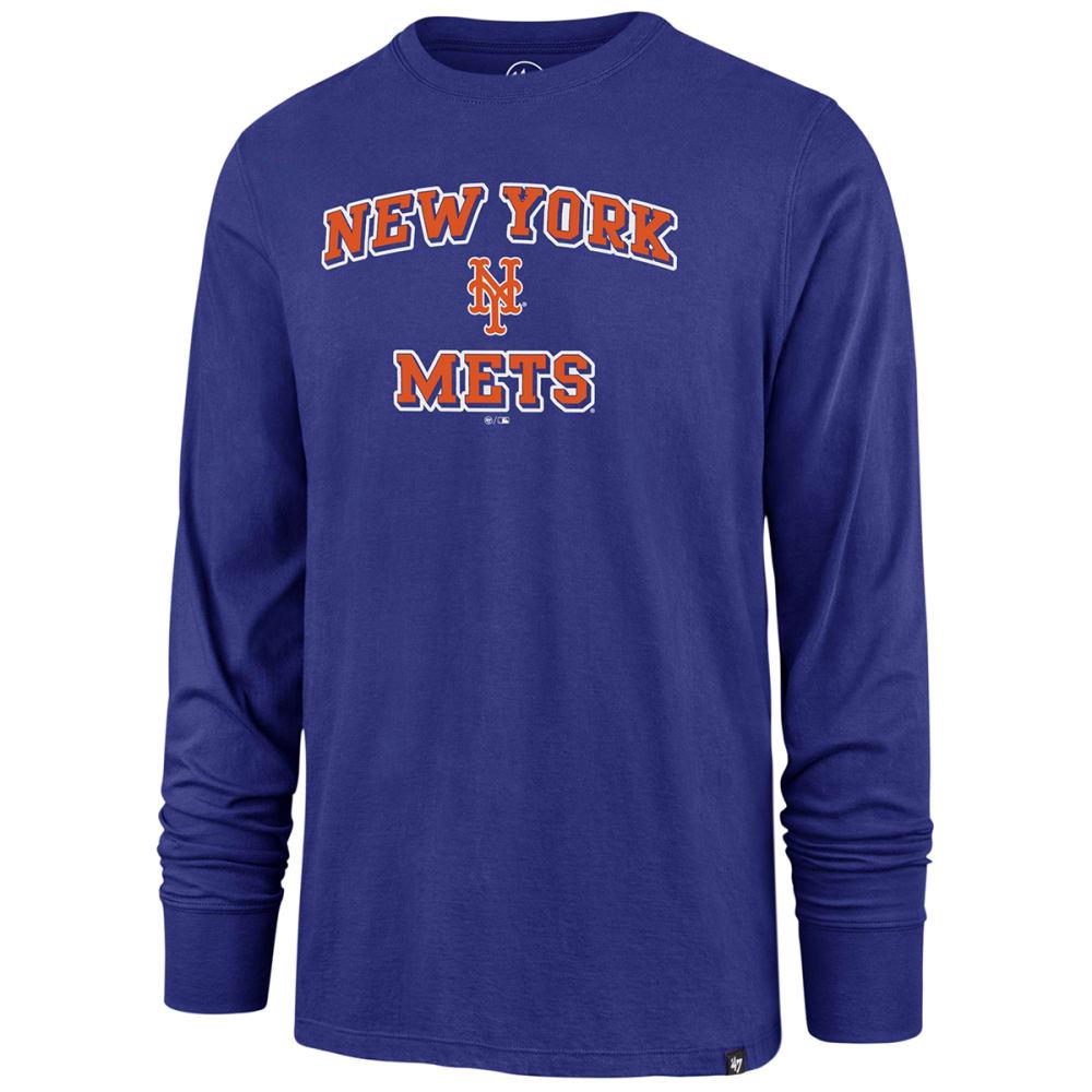 NEW YORK METS Men's Baseball Splitter Long-Sleeve Tee M