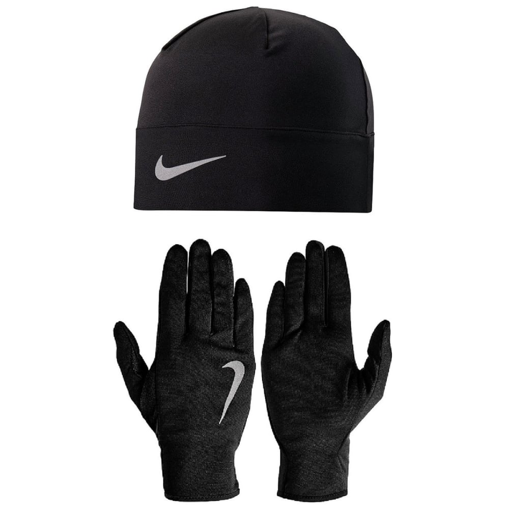 NIKE Men's Dri-Fit Running Hat and Gloves Set S/M