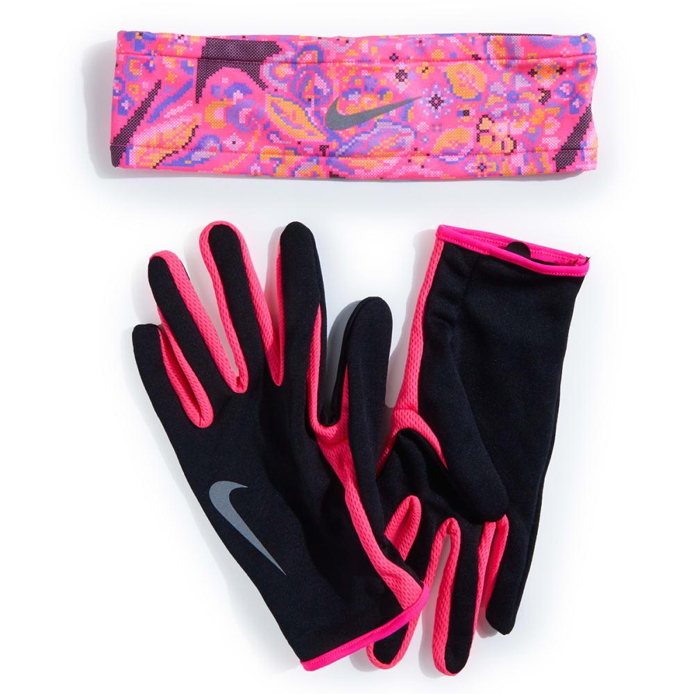 NIKE Women's Dri-Fit Running Headband and Gloves Set XS/S