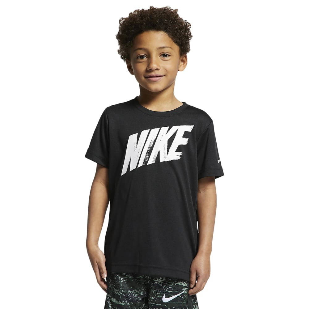 Nike Boys' Short-Sleeve Dri-Fit Tee - Black, 6