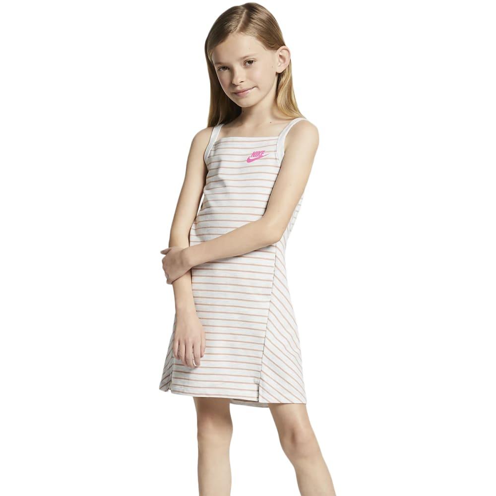 Nike Girls' Sportswear Dress - White, 6