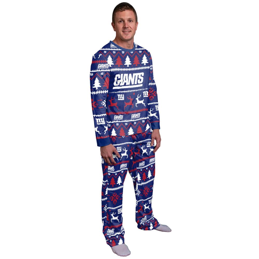 NEW YORK GIANTS Men's Holiday Pajama Set S