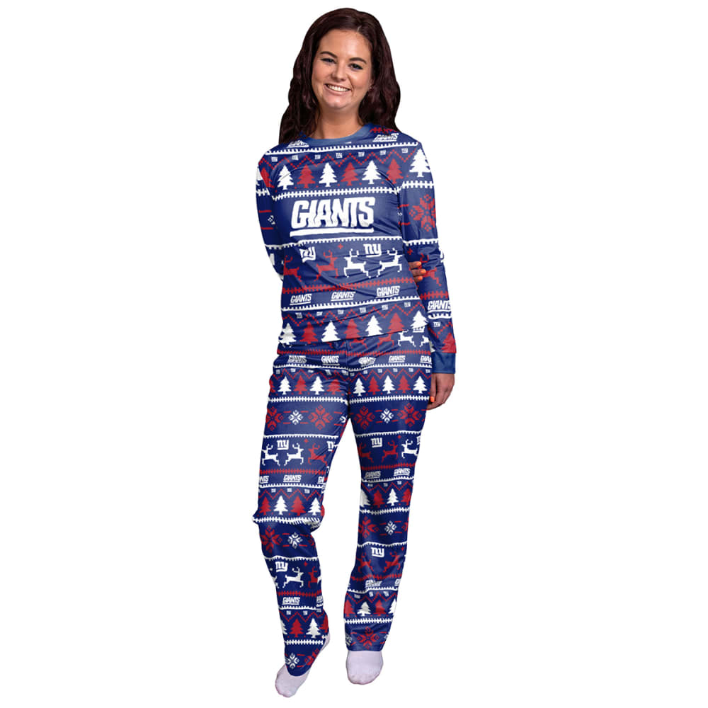NEW YORK GIANTS Women's Holiday Pajama Set S