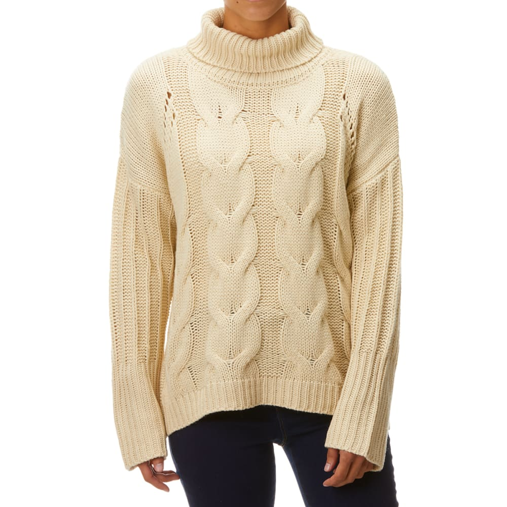 YORK & HUDSON Women's Cable Knit Turtleneck M