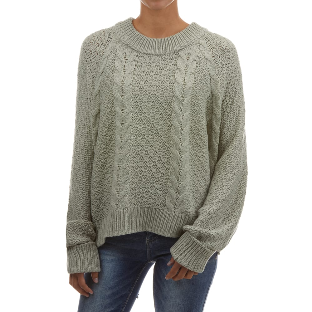 YORK & HUDSON Women's Cable Crew Neck Sweater M