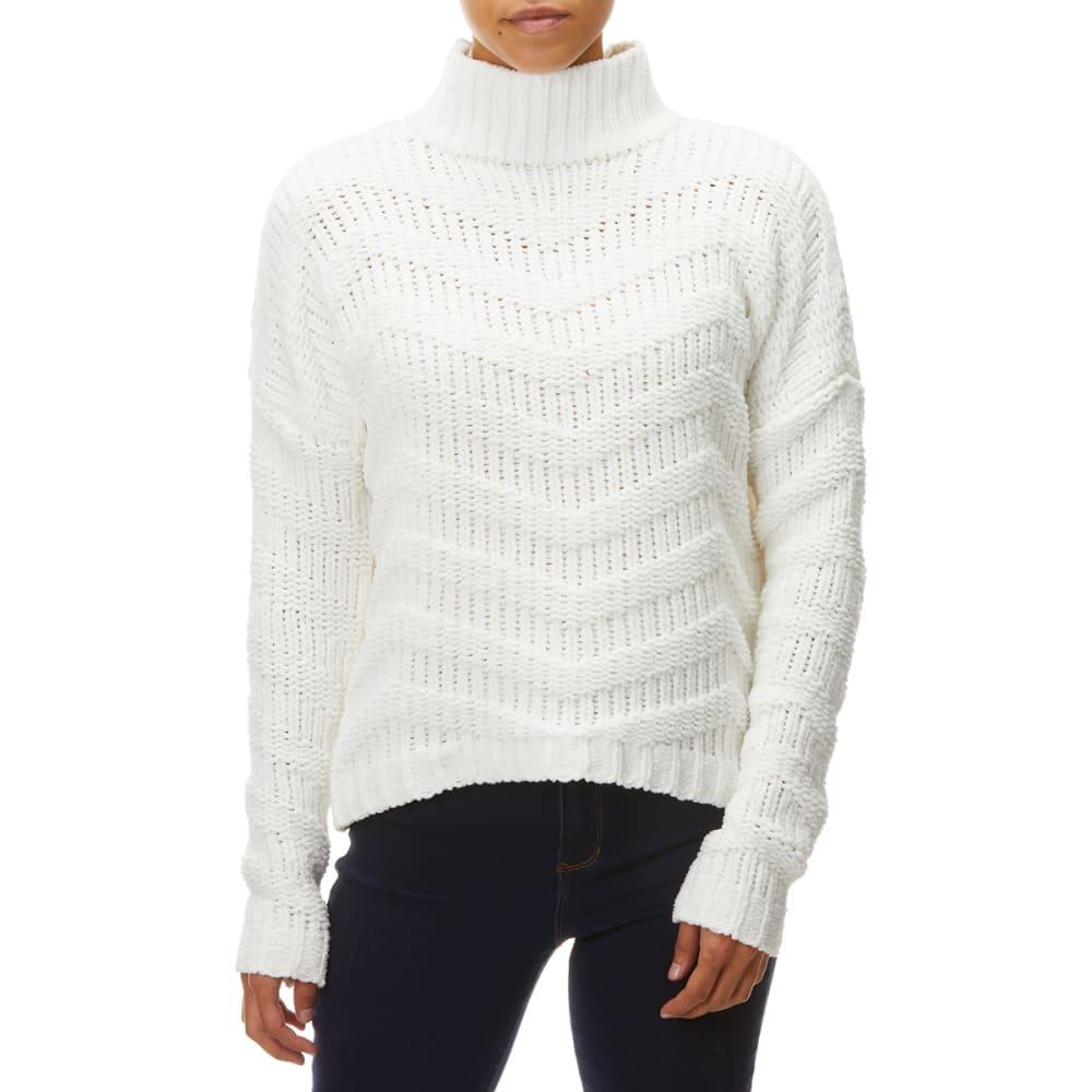 YORK & HUDSON Women's Mock Neck Chevron Sweater S