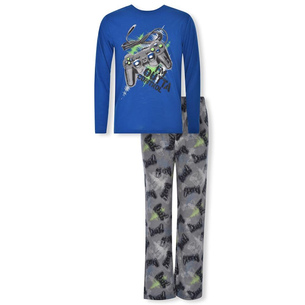CLOUD NINE Boys' Gamer Glow in the Dark Fleece 2 Piece Pajama Set 8-10X