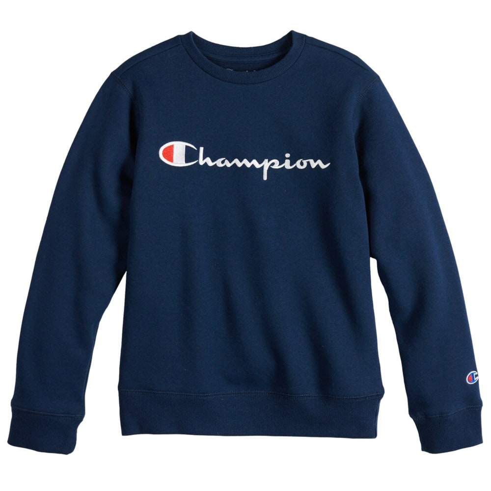 CHAMPION Boys' Crew Logo Fleece S