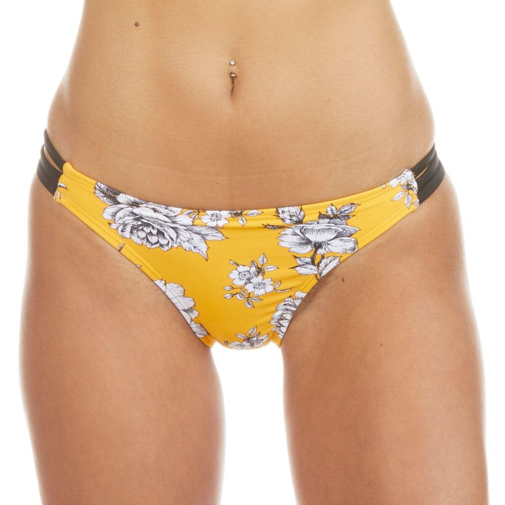 INDIGO REIN Juniors' Tropical Floral Retro Swim Bottoms S