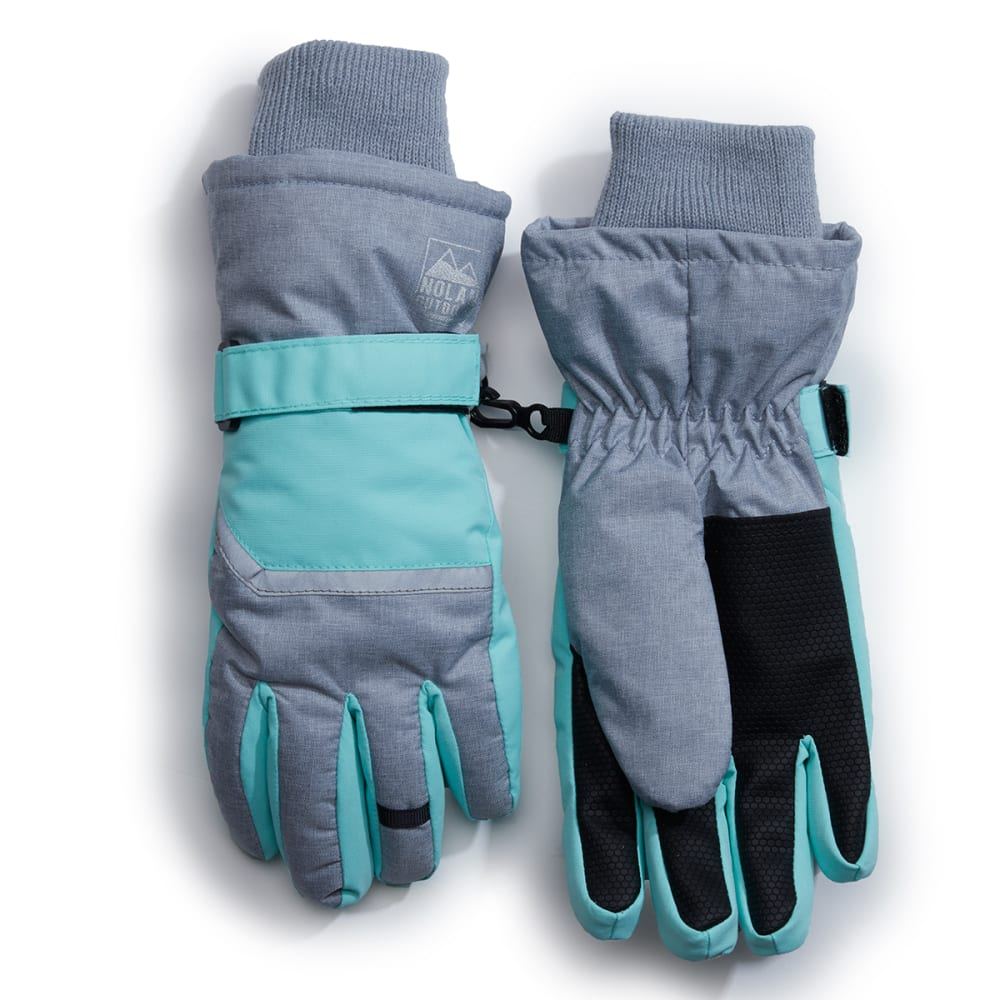 NOLAN Girls' Color-Blocked Winter Gloves S/M