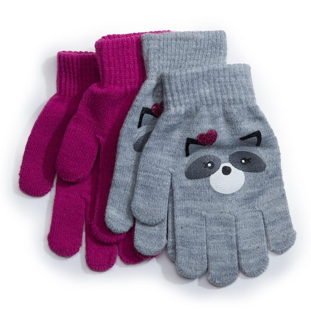 NOLAN Girls' Magic Gloves, 2-Pack ONE SIZE