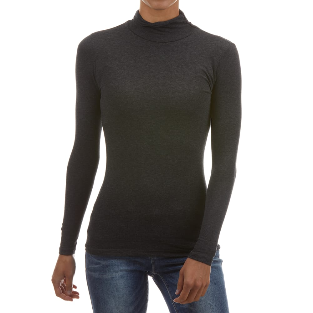 AMBIANCE Juniors' Mock Neck Long-Sleeve Top S