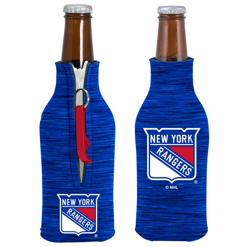 NEW YORK RANGERS Zippered Bottle Coolie w Opener ONE SIZE