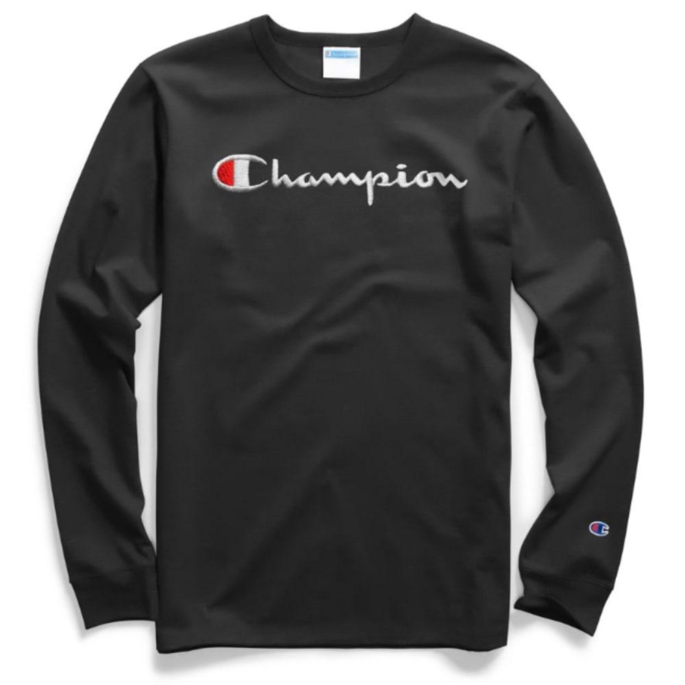 CHAMPION Men's Classic Script Logo Graphic Long-Sleeve Tee XL