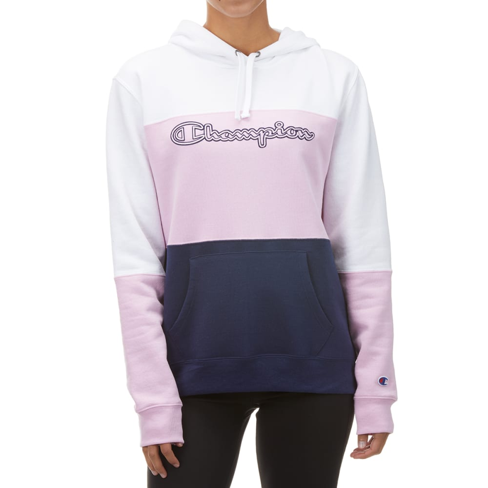 CHAMPION Women's Powerblend Color Blocked Hoodie S