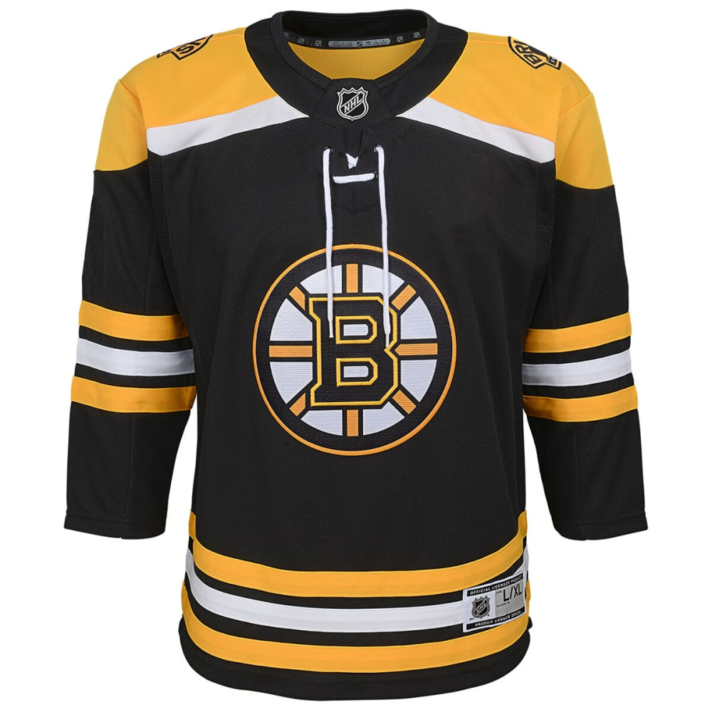 Boston Bruins Boys' Premier Home Team Replica Jersey - Black, S/M