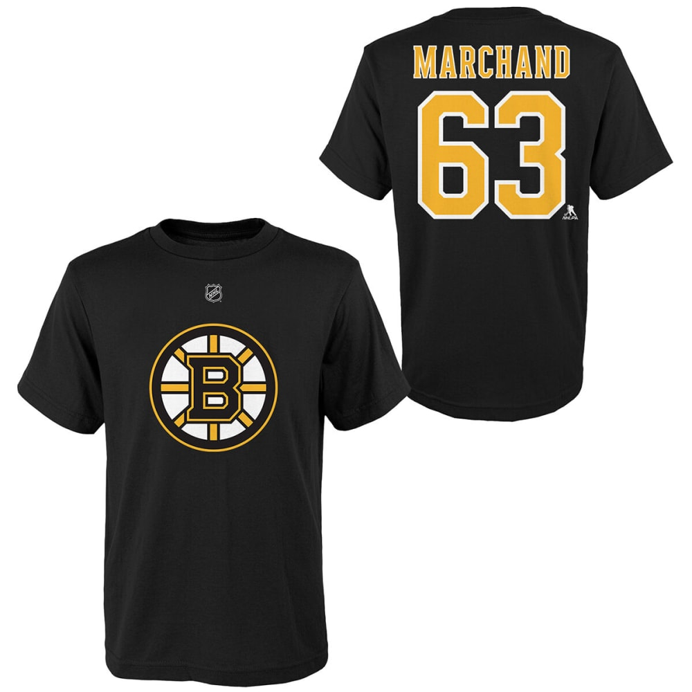 Boston Bruins Boy's Short-Sleeve Marchand Name And Number Tee - Black, S