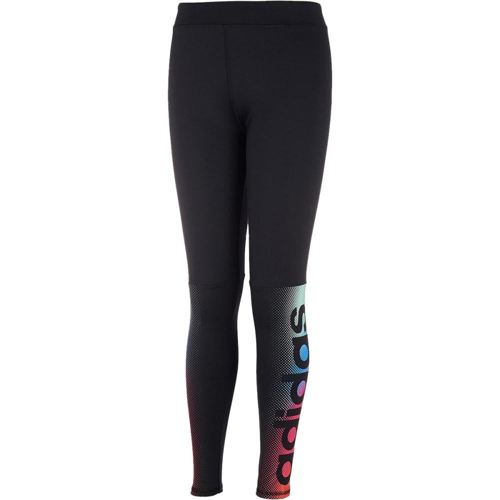 Adidas Girls' Linear Fade Tights - Black, 4
