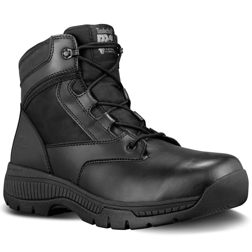 Timberland Pro Men's Valor Duty 6 Inch Soft Toe Tactical Boots, Medium Width - Black, 3.5