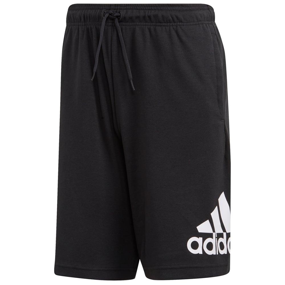 Adidas Men's Single Jersey Shorts - Black, L