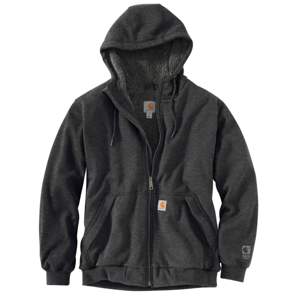 CARHARTT Men's Rain Defender Rockland Sherpa-Lined Full-Zip Hoodie, Extended Sizes XLT
