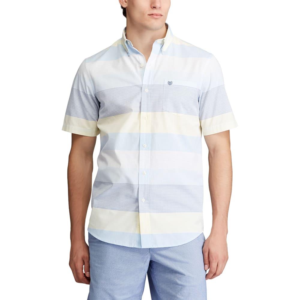 CHAPS Men's Short-Sleeve Easy Care Stripe Button-Down Shirt M