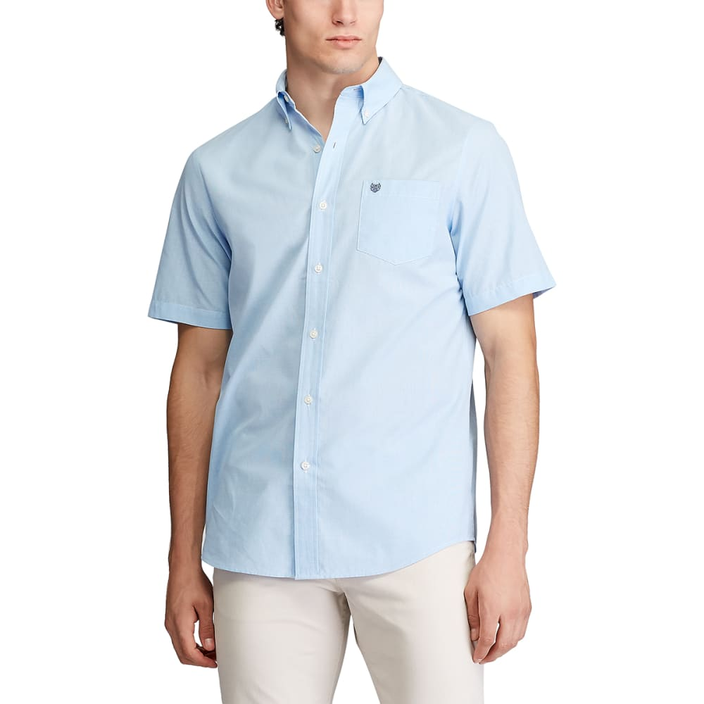 CHAPS Men's Mini-Check Short-Sleeve Woven Shirt M