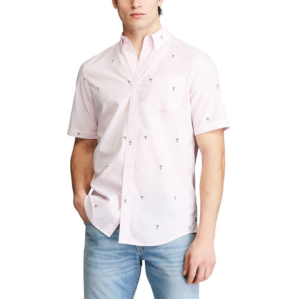 CHAPS Men's Short-Sleeve Easy Care Button-Down Shirt M
