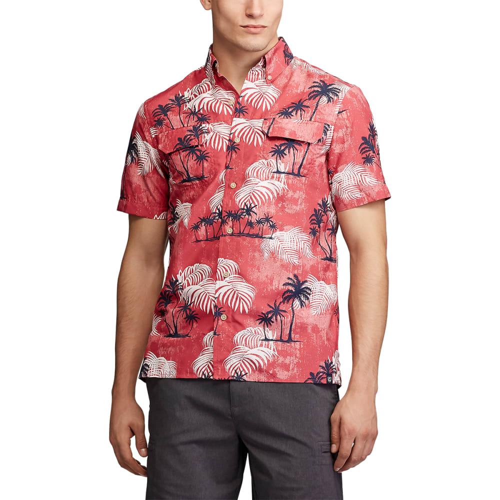 CHAPS Men's Short-Sleeve Go Untucked Outdoor Performance Shirt M