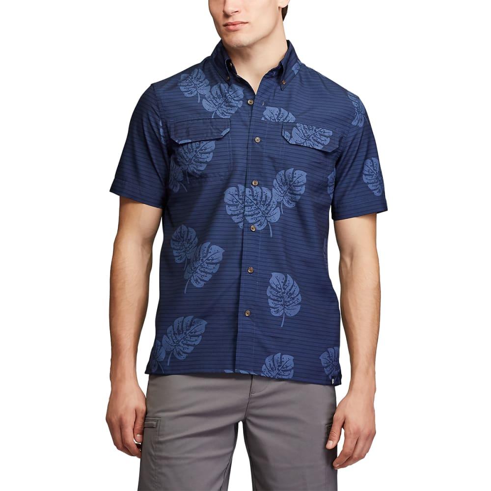CHAPS Men's Short-Sleeve Go Untucked Outdoor Performance Shirt L