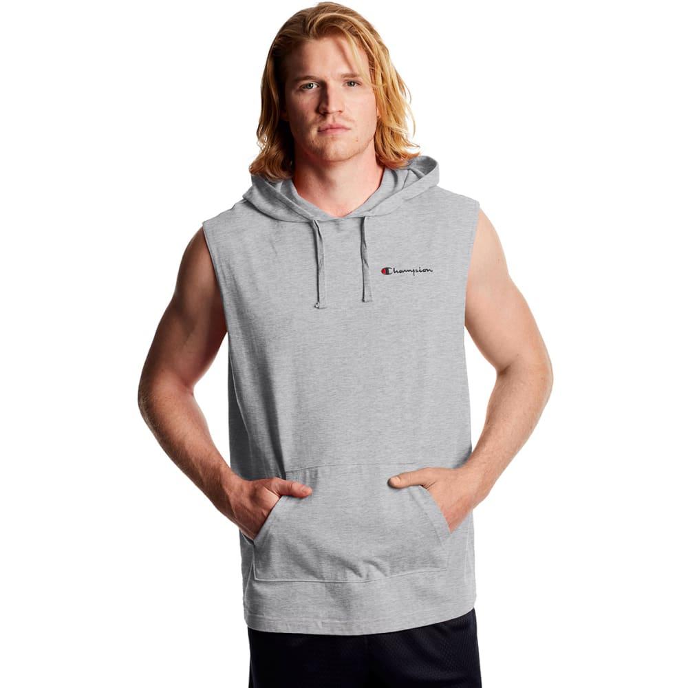 CHAMPION Men's Midweight Sleeveless Jersey Hoodie XL