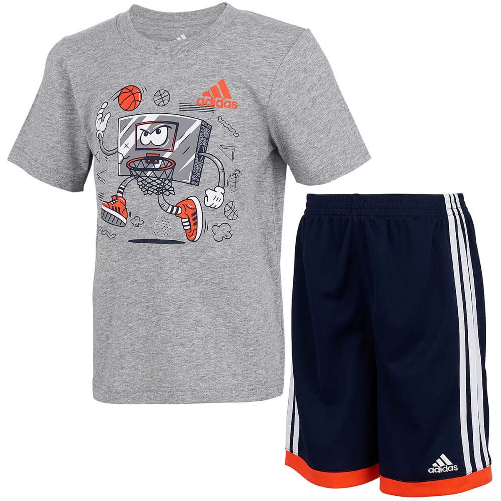 ADIDAS Little Boys' Graphic T-Shirt and Shorts Set 4